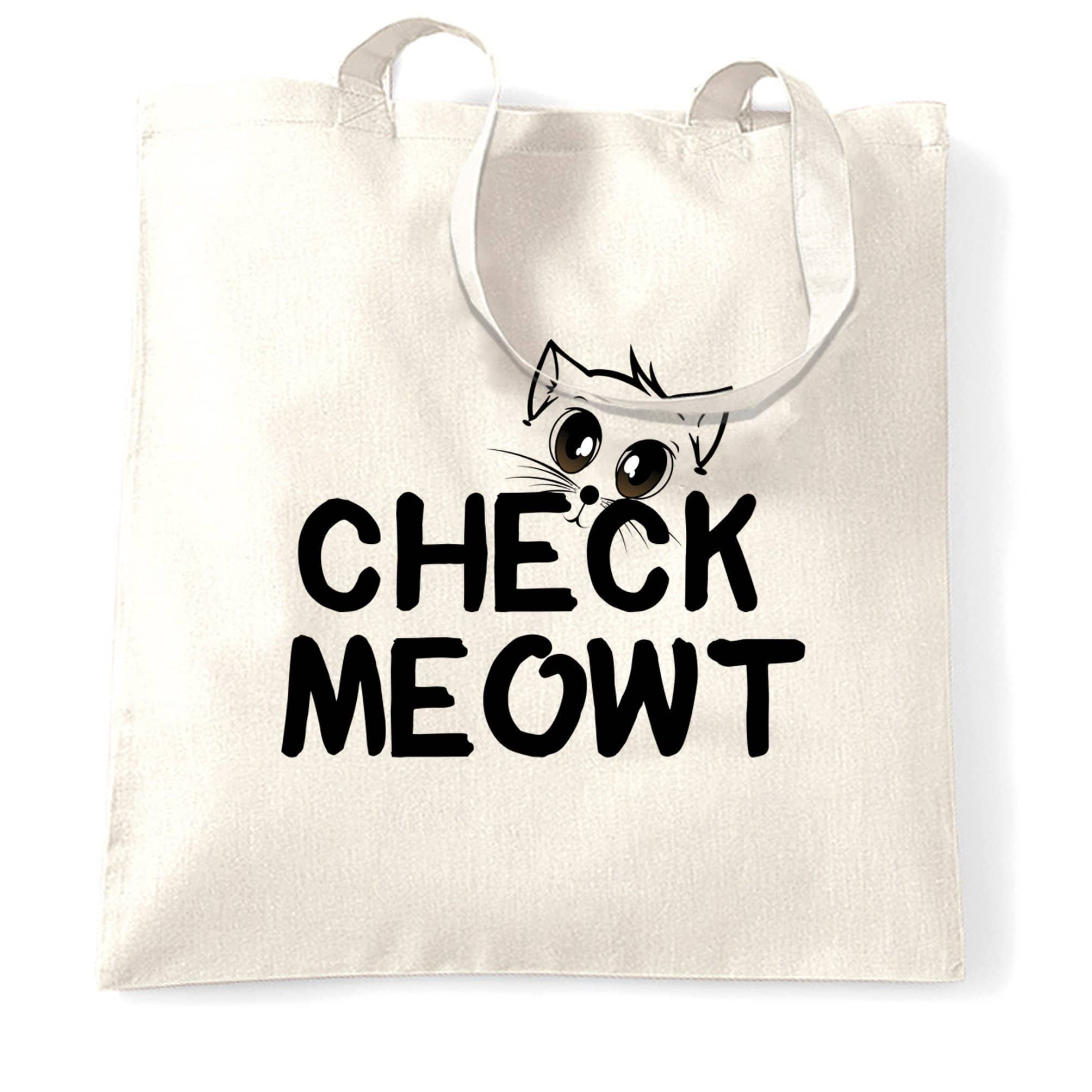 Novelty Pet Tote Bag Check Meowt Cat Slogan