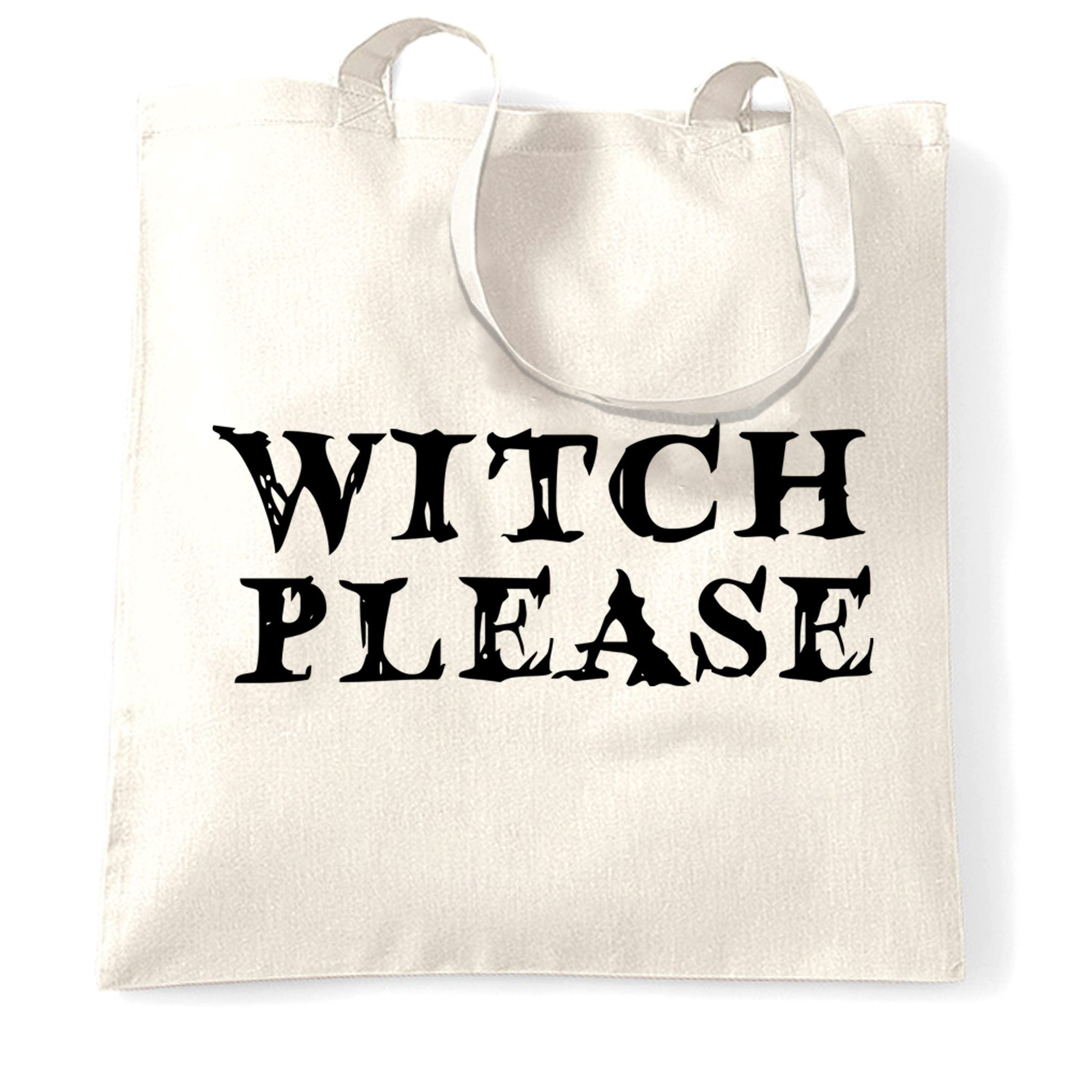 Novelty Halloween Tote Bag Witch Please Slogan