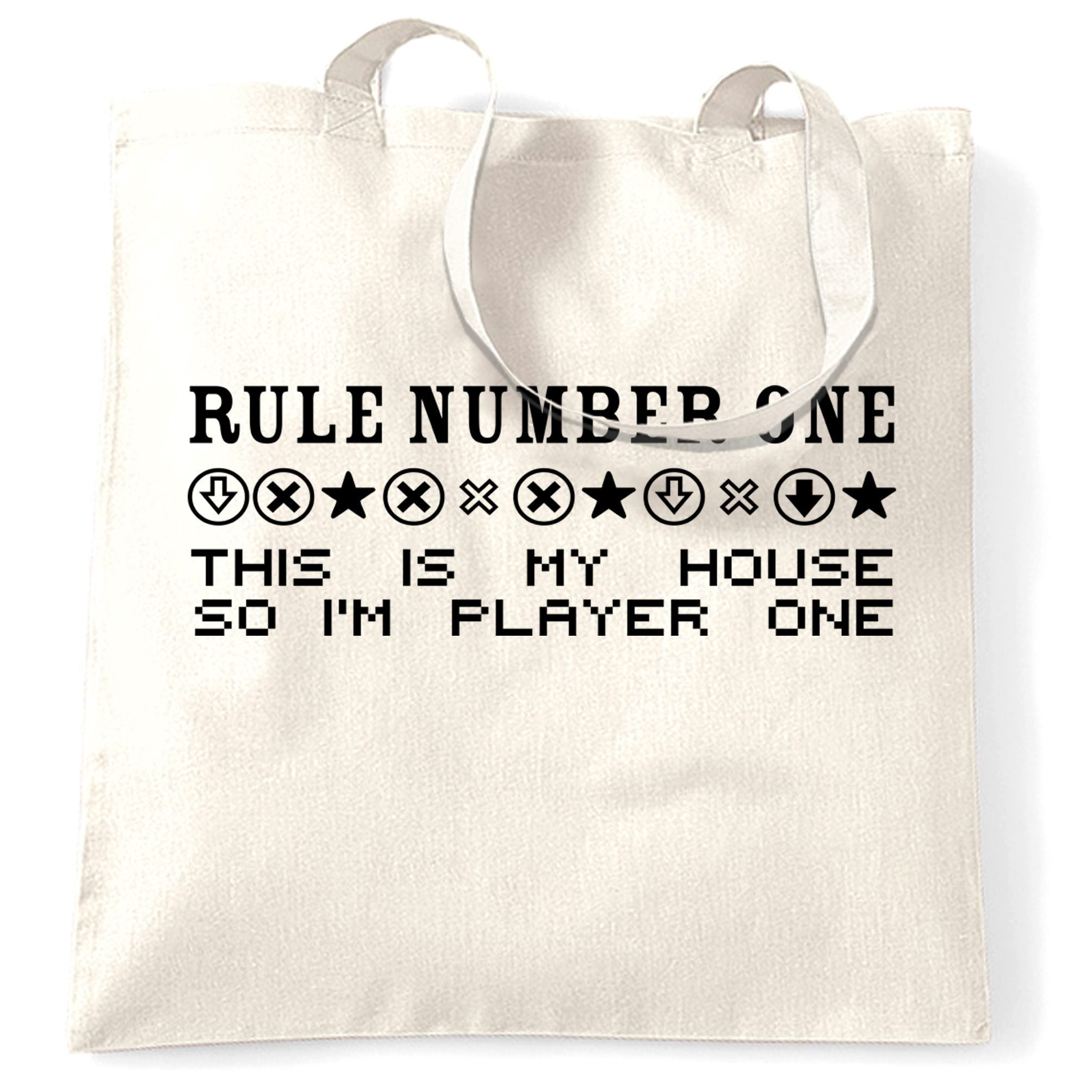 Gaming Tote Bag Rule Number One, This Is My House