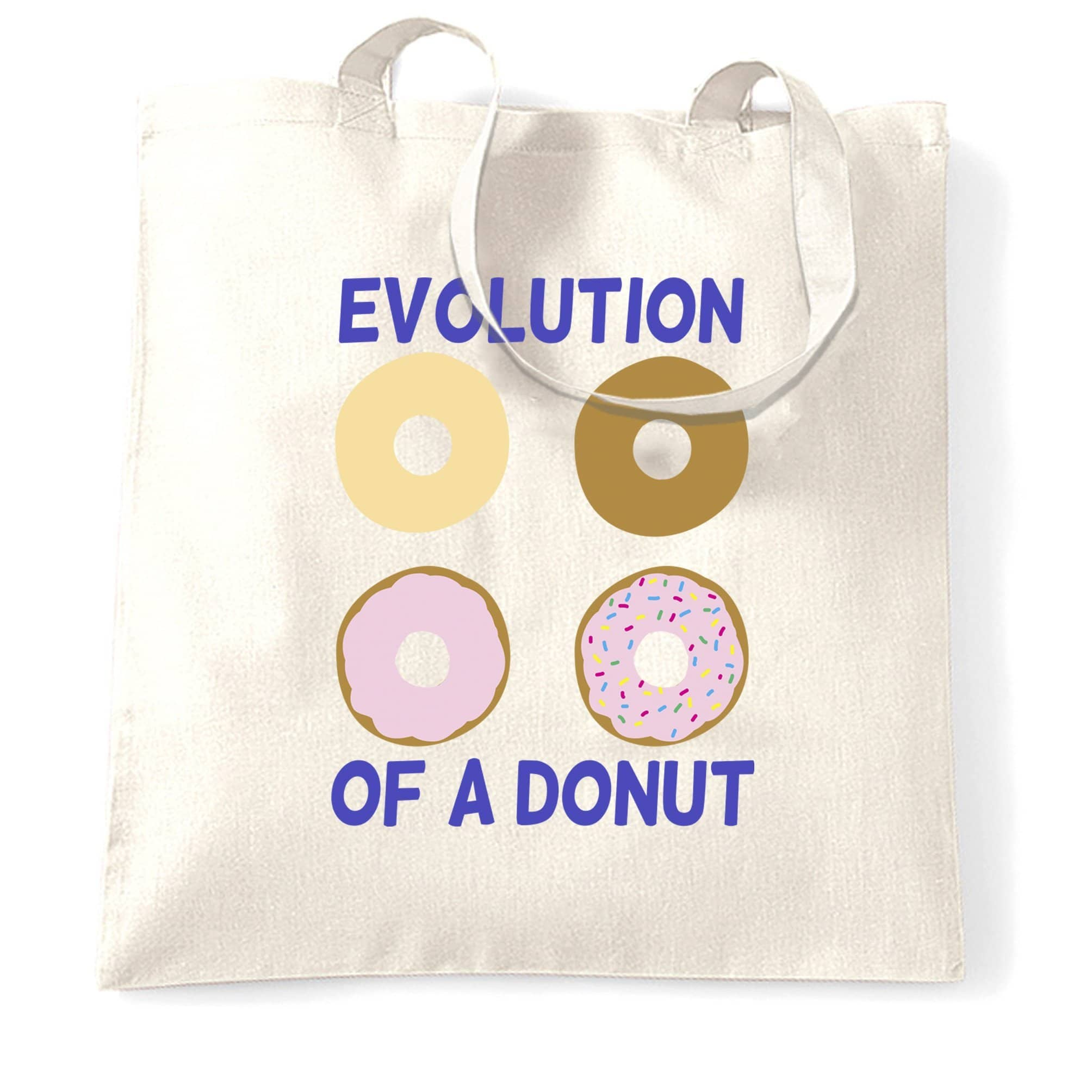 Novelty Food Tote Bag The Evolution Of A Donut
