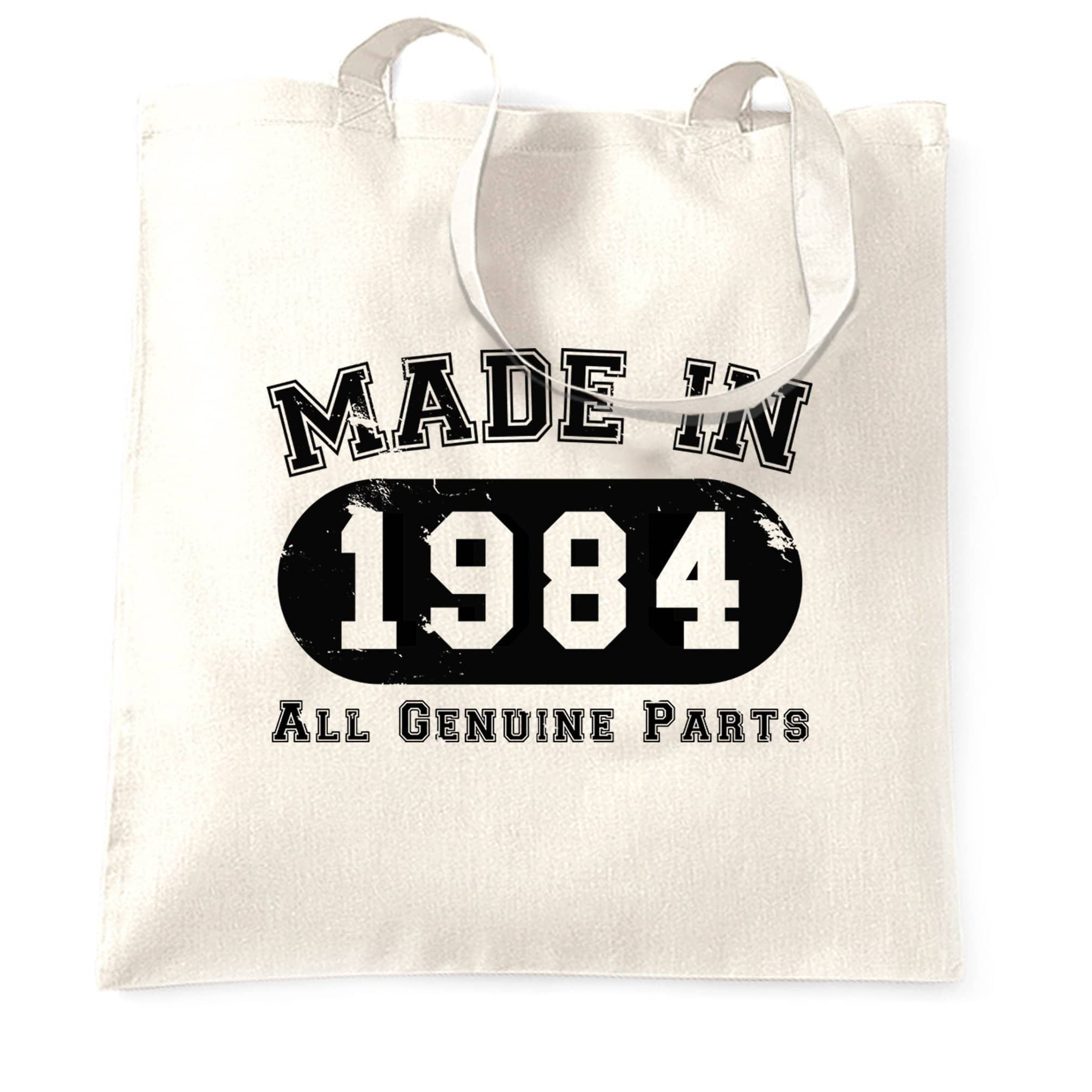 Birthday Tote Bag Made in 1984 All Genuine Parts