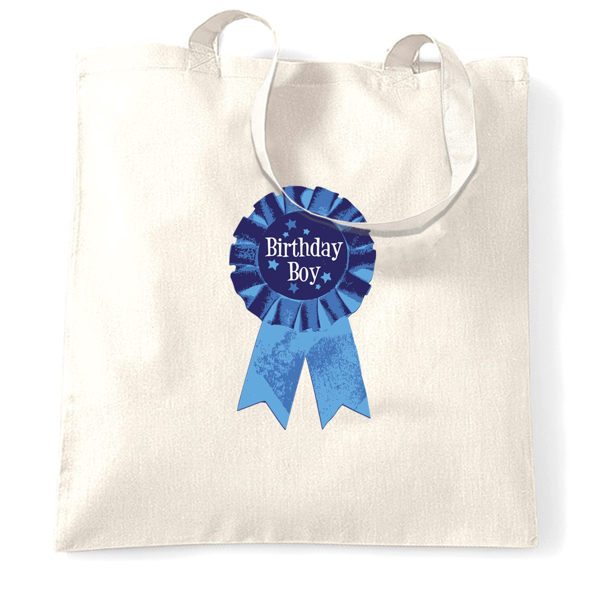 Novelty Party Tote Bag Birthday Boy Pocket Print Badge