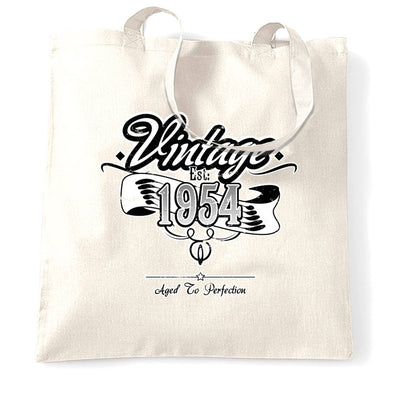 Birthday Tote Bag Vintage Est 1954 Aged To Perfection