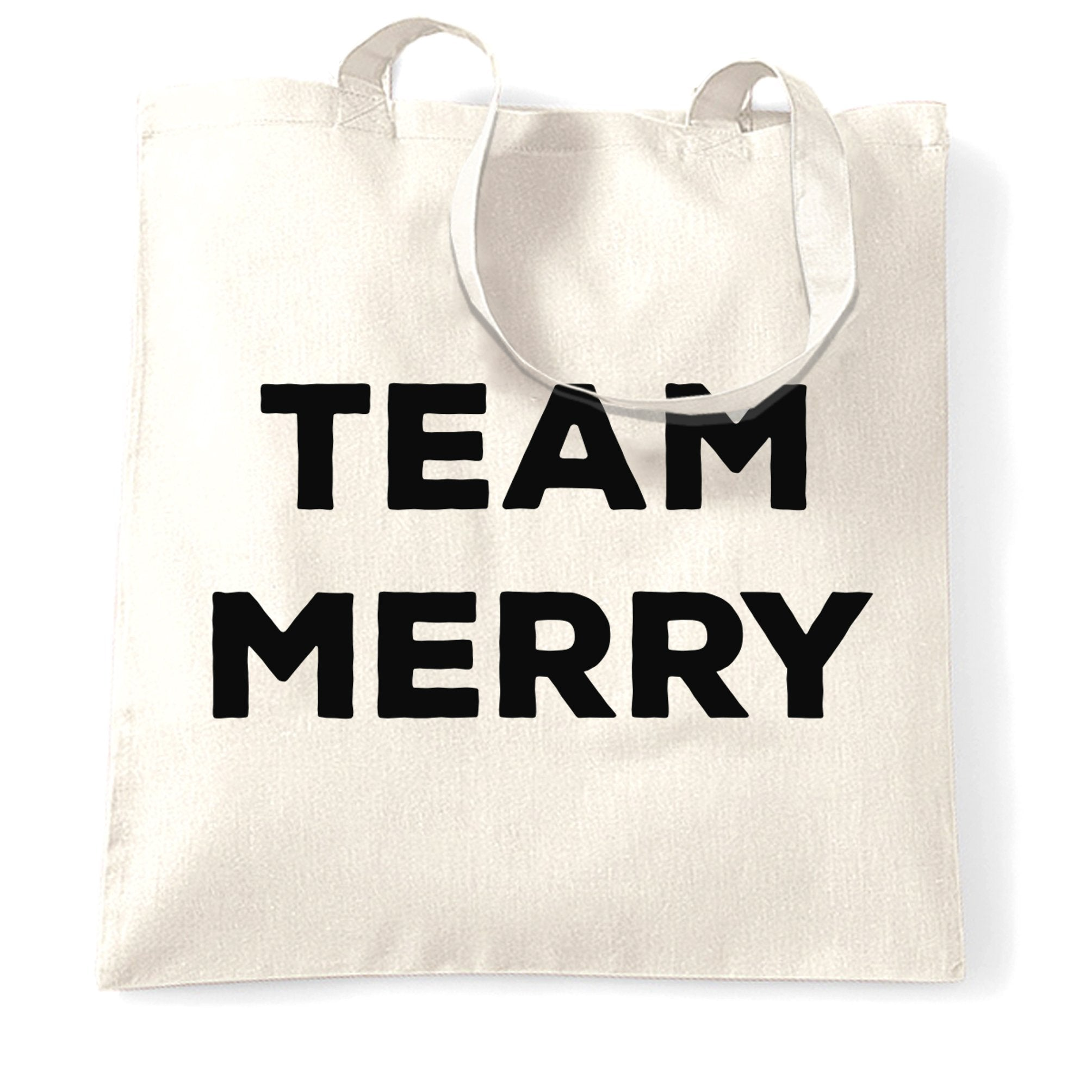 Novelty Xmas Tote Bag Team Merry Christmas