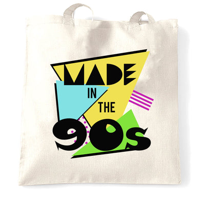 Retro Birthday Tote Bag Made In The 90s
