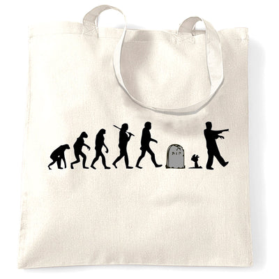 Halloween Tote Bag Evolution Of A Zombie