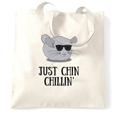 Novelty Tote Bag Just Chin Chilling Sunglasses