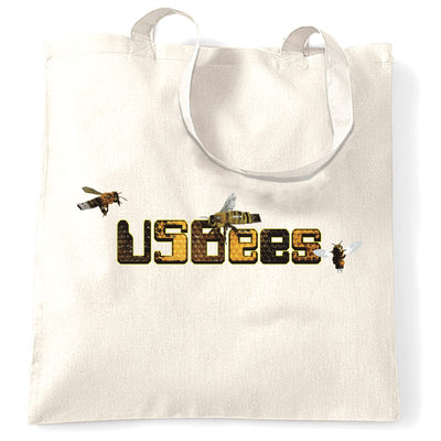 Novelty Pun Tote Bag USB Bees Computer Joke
