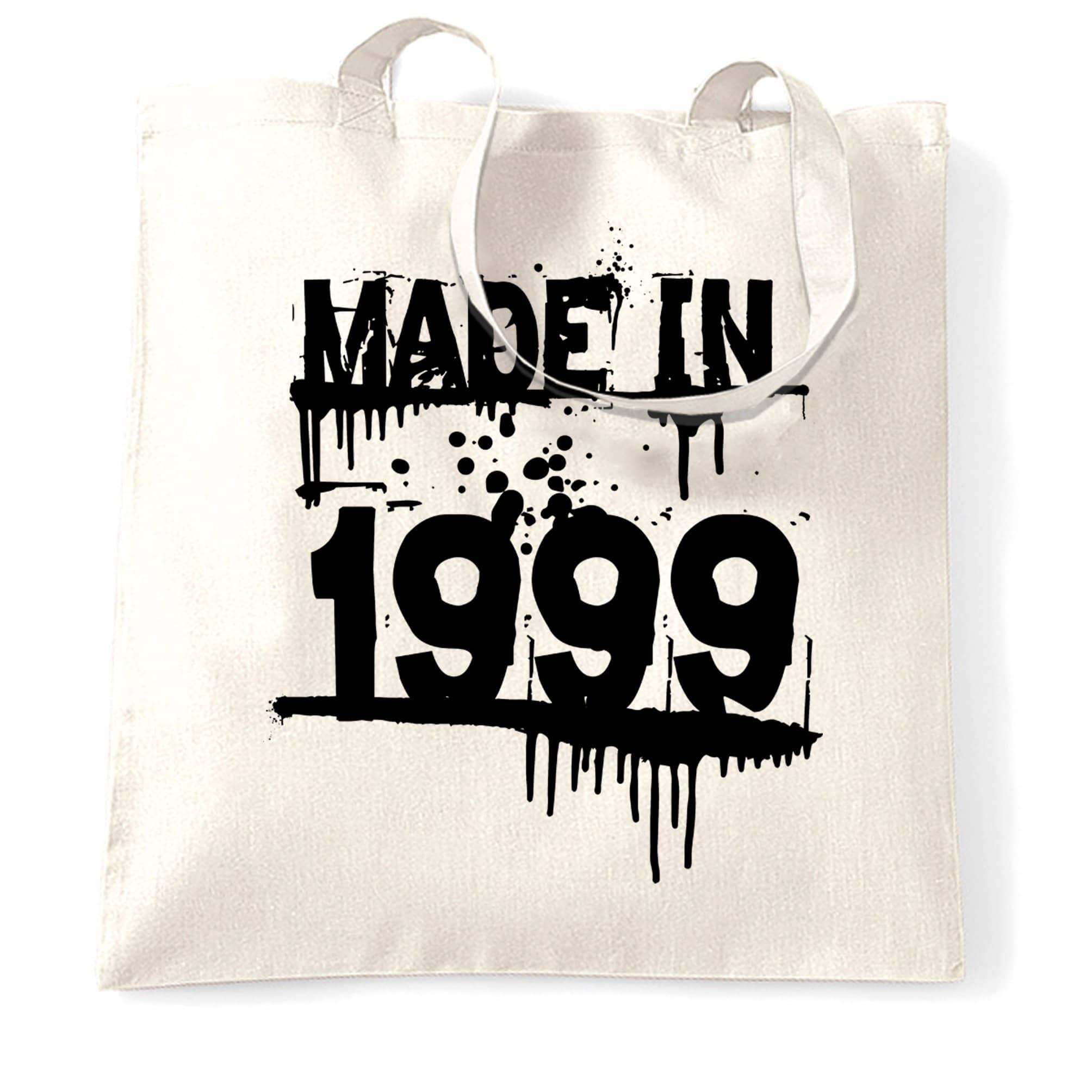 Birthday Tote Bag Made in 1999 Graffiti
