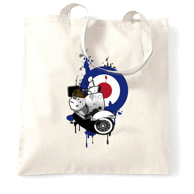 Retro Scooter Tote Bag Moped Paint Splatter Target