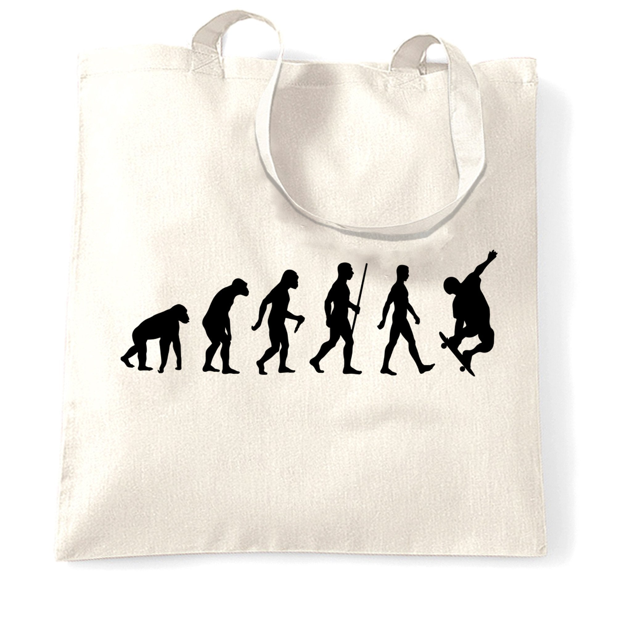 Sports Tote Bag The Evolution Of A Skateboarder