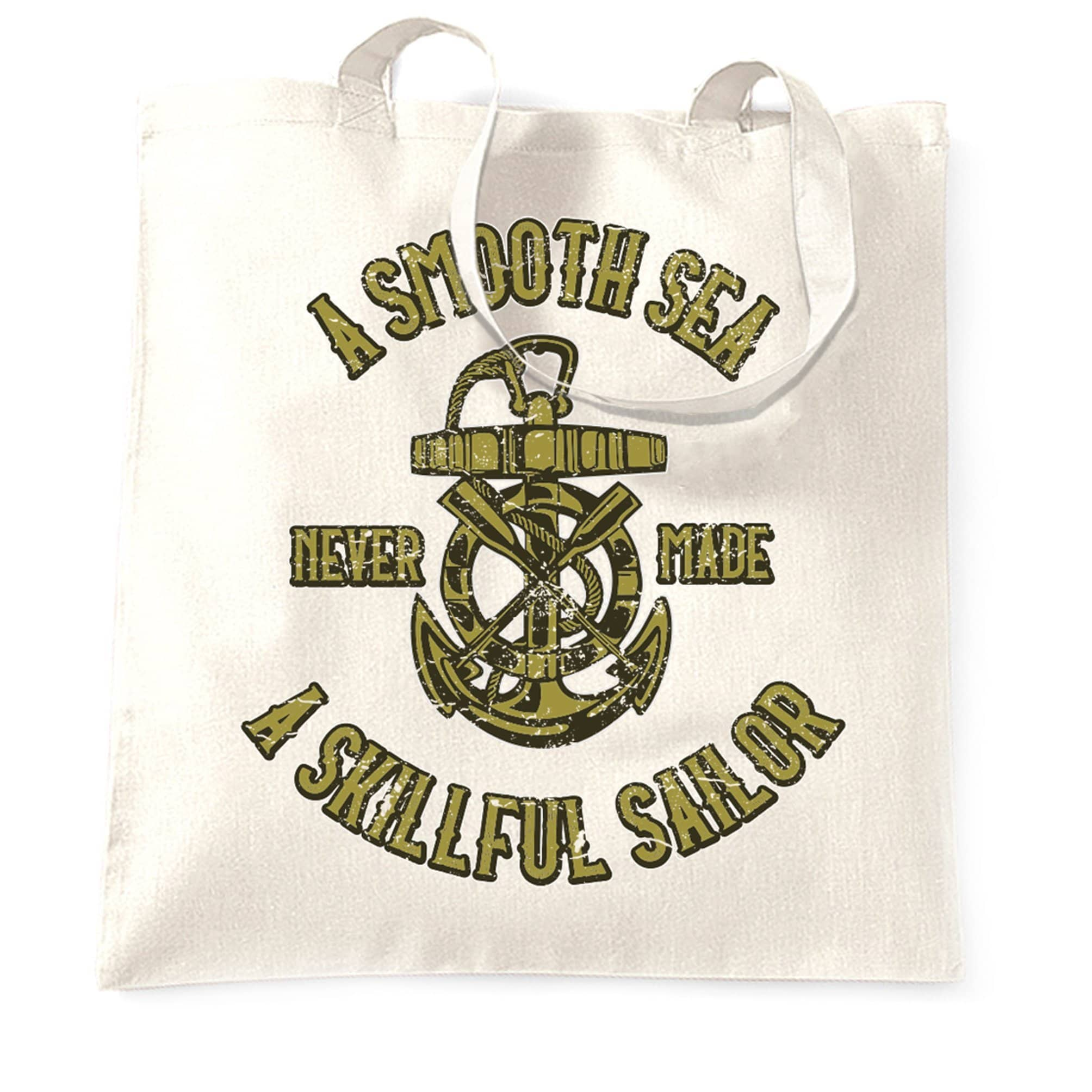 Boat Tote Bag Smooth Sea Never Made A Skillful Sailor