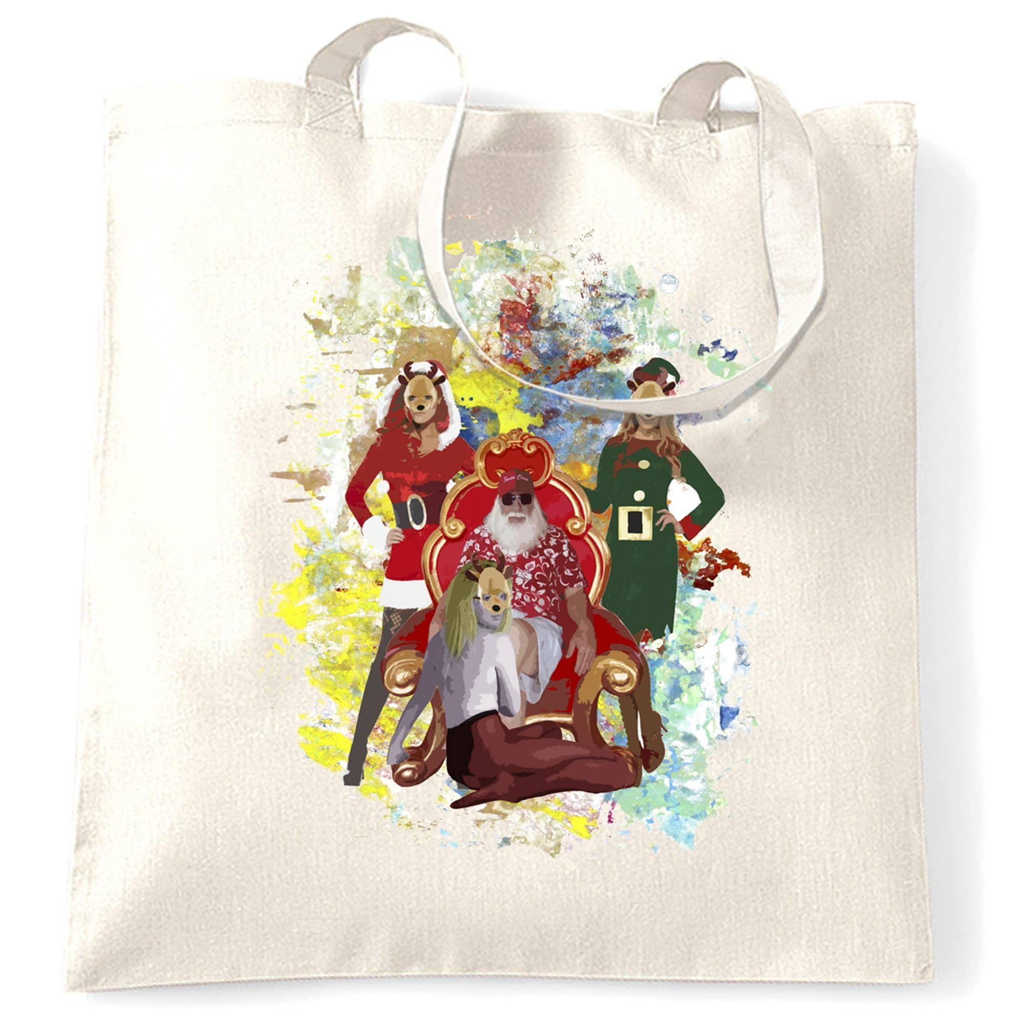 Father Christmas Tote Bag Santa And His Ho Hoe Hoes