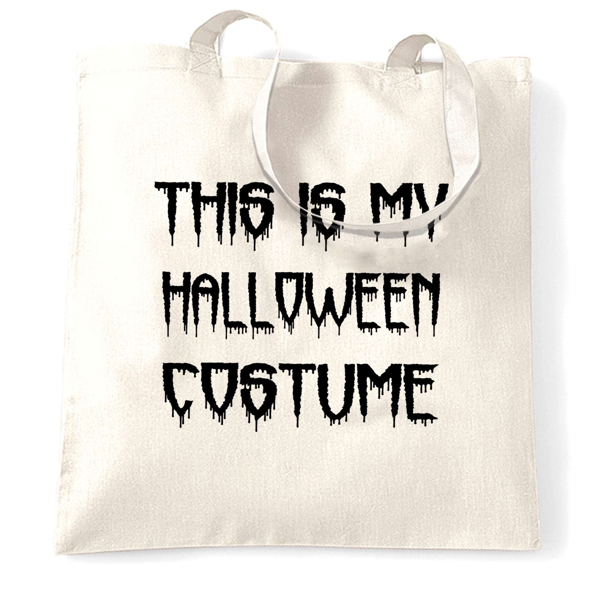Novelty Halloween Tote Bag This Is My Costume