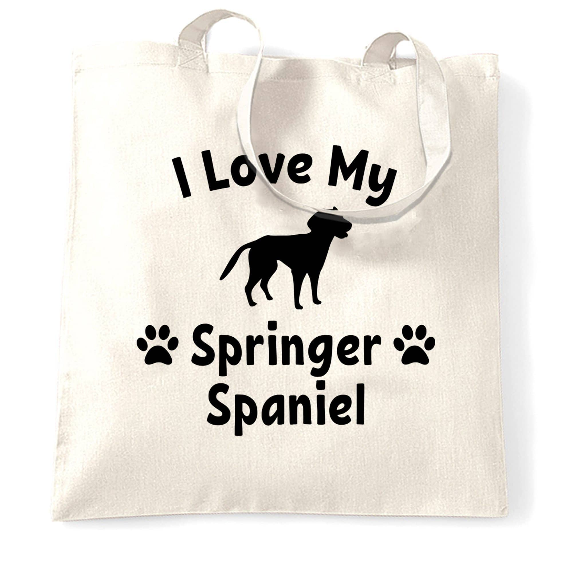 Dog Owner Tote Bag I Love My Springer Spaniel