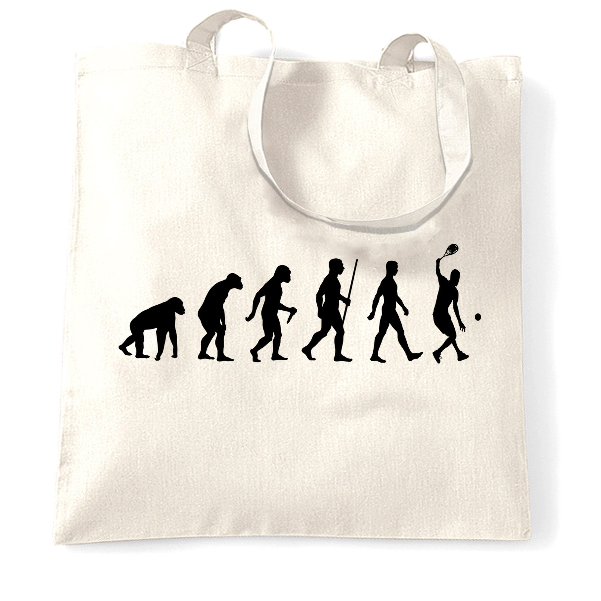 Sports Tote Bag Evolution Of A Tennis Player