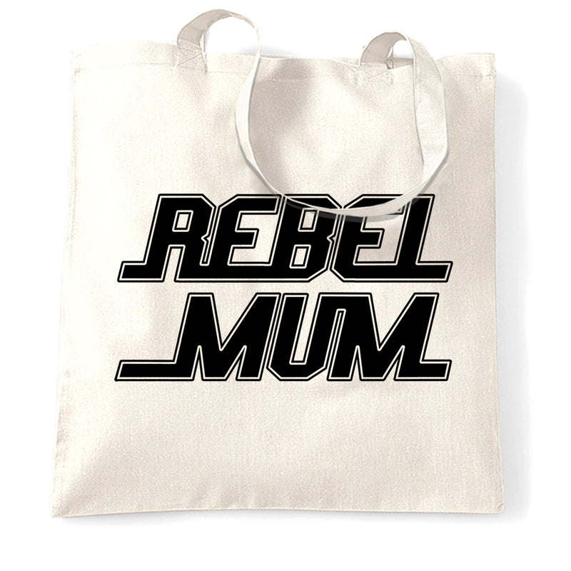 Movie Parody Tote Bag Rebel Mum Slogan