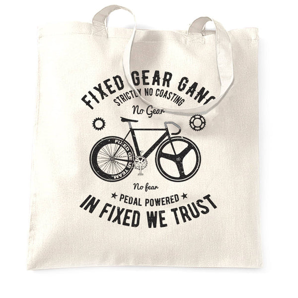 Cycling Tote Bag Fixed Gear Gang Cyclist Biker