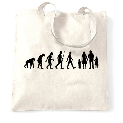 Parenthood Tote Bag Evolution Of A Family Girl And Boy