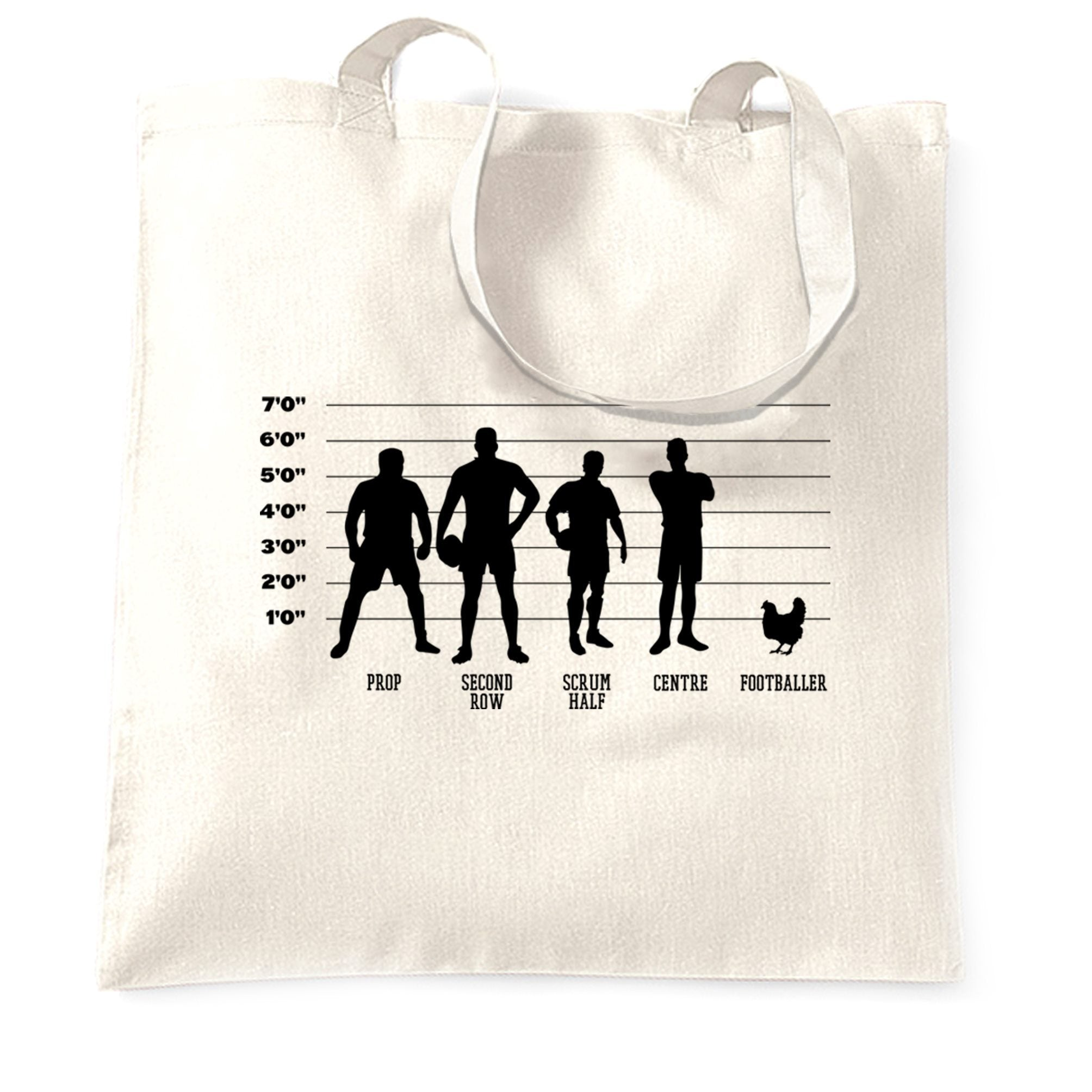 Joke Sports Tote Bag Rugby Vs Football Chicken Lineup