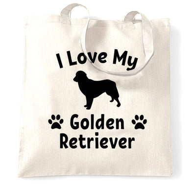Dog Owner Tote Bag I Love My Golden Retriever