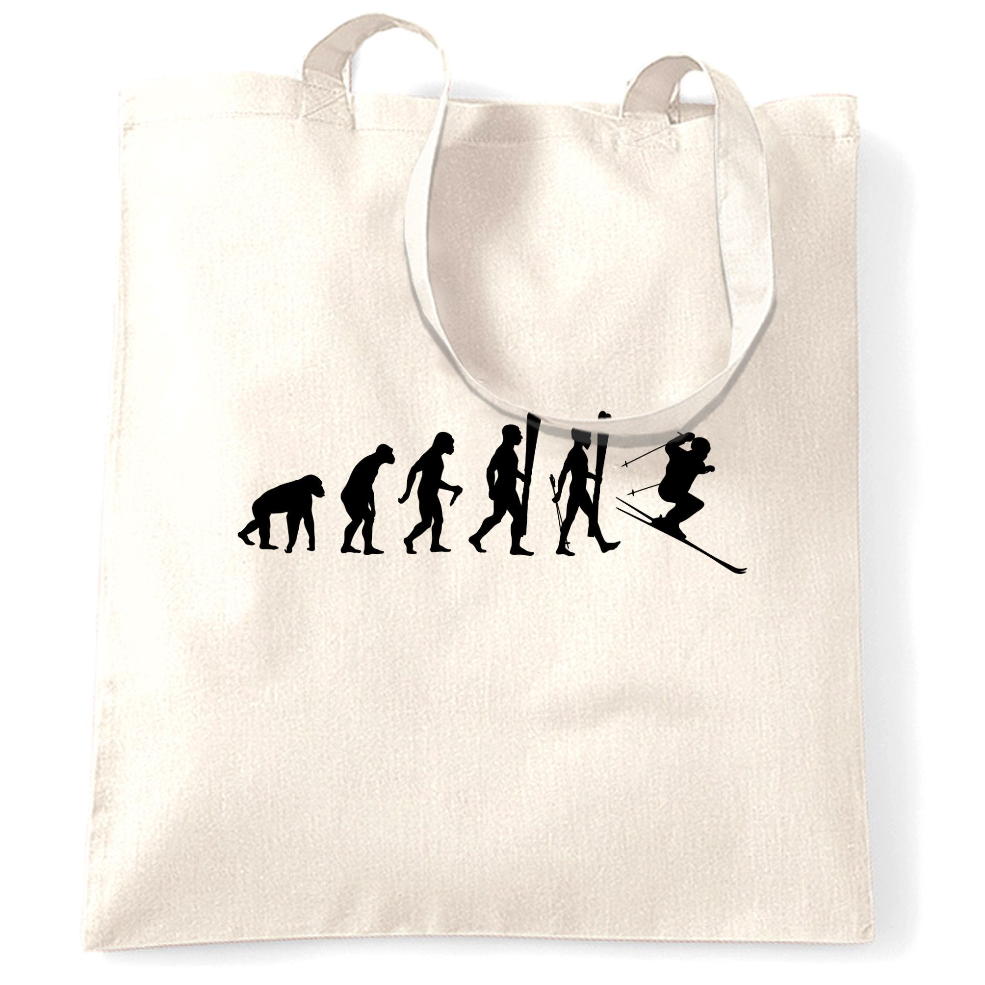 Sports Tote Bag The Evolution Of A Ski Jumper