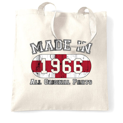 Made In 1966 England Flag Tote Bag Football Team