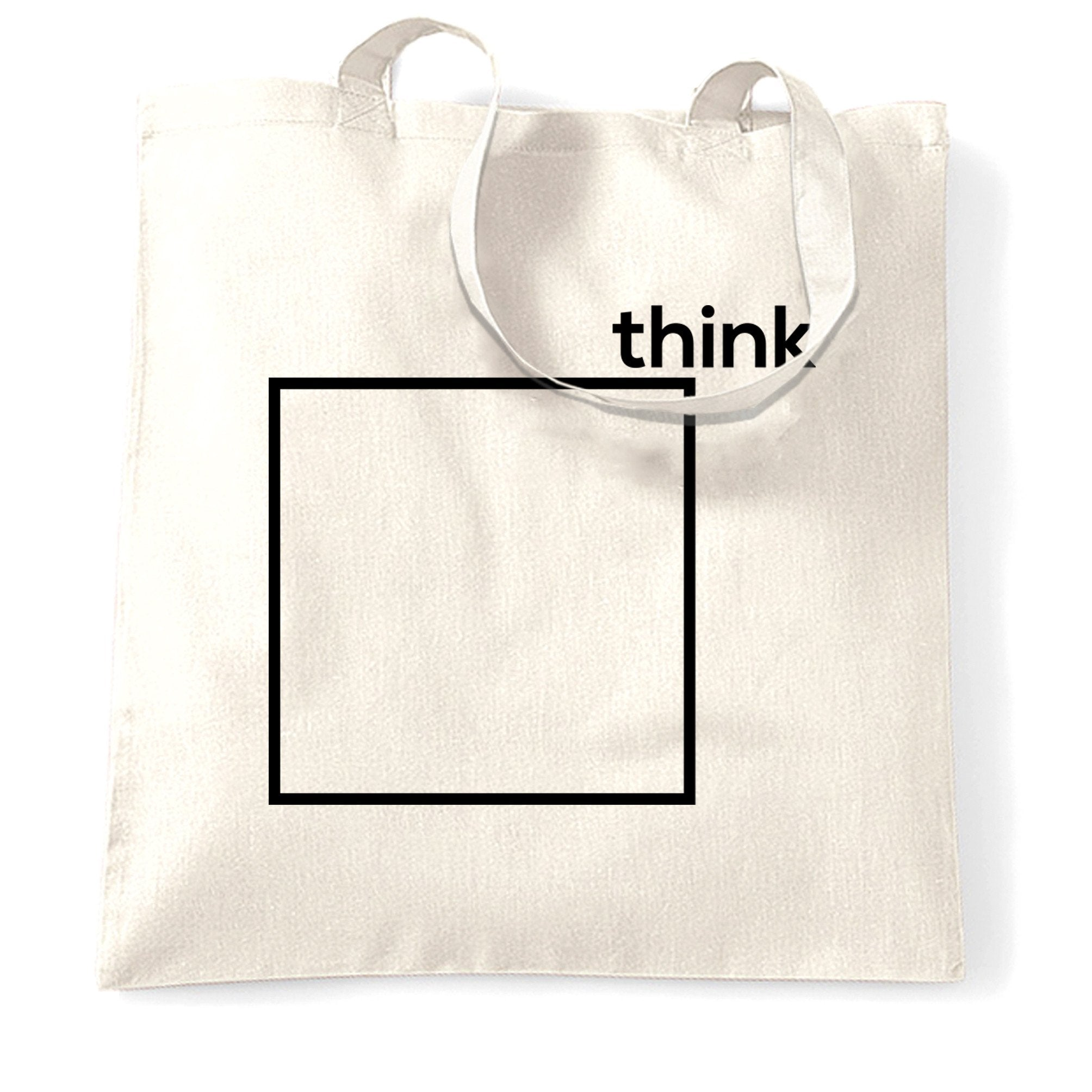Novelty Tote Bag Think Outside The Box Pun