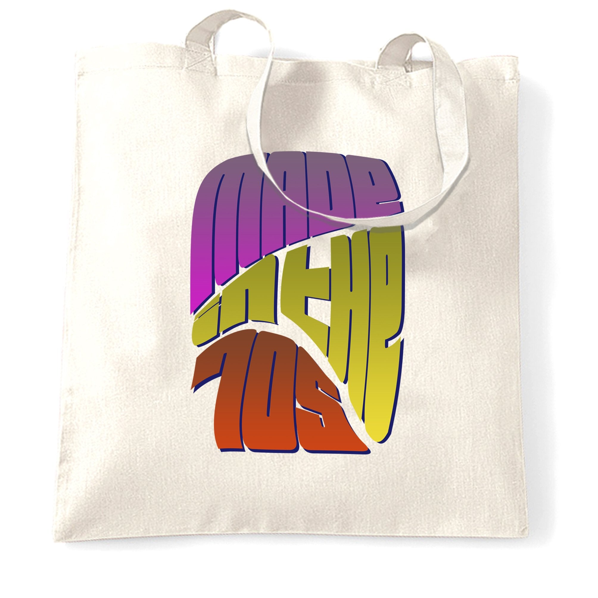 Retro Birthday Tote Bag Made In The 70s