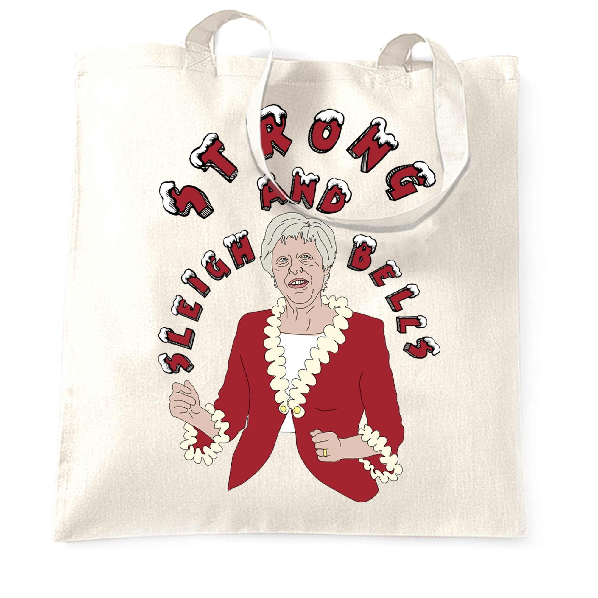 Novelty Xmas Tote Bag Festive Theresa May Joke