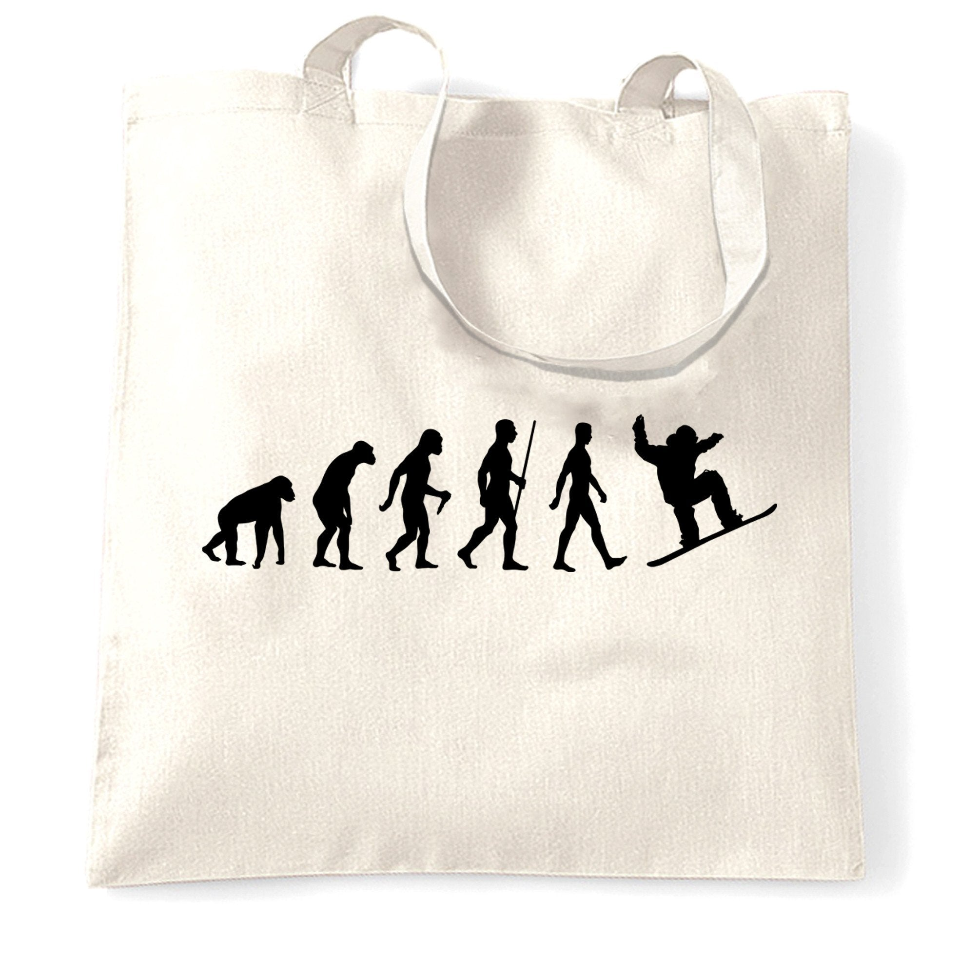 Sports Tote Bag The Evolution Of A Snowboarder