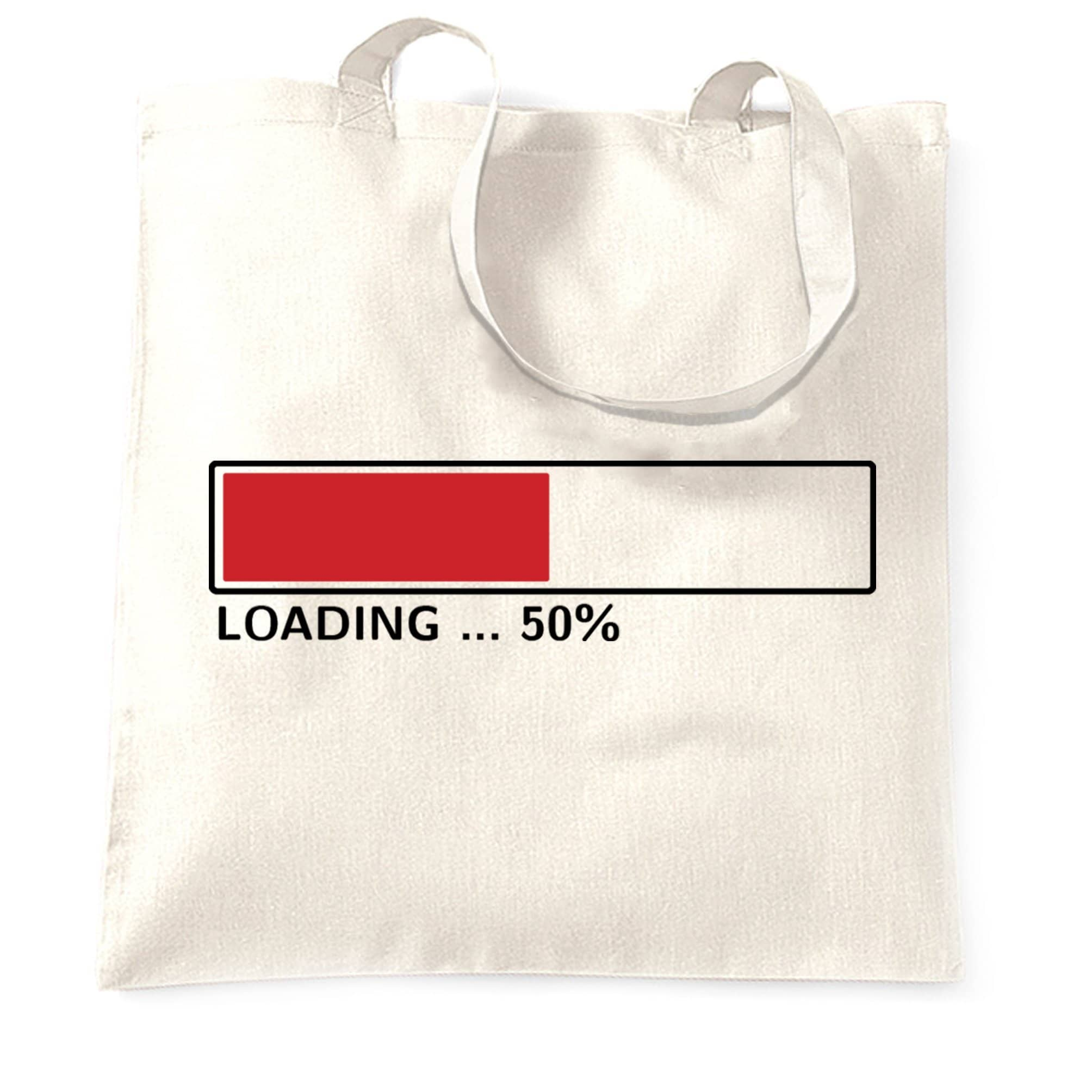 50th Birthday Tote Bag Loading 50% Complete Fifty