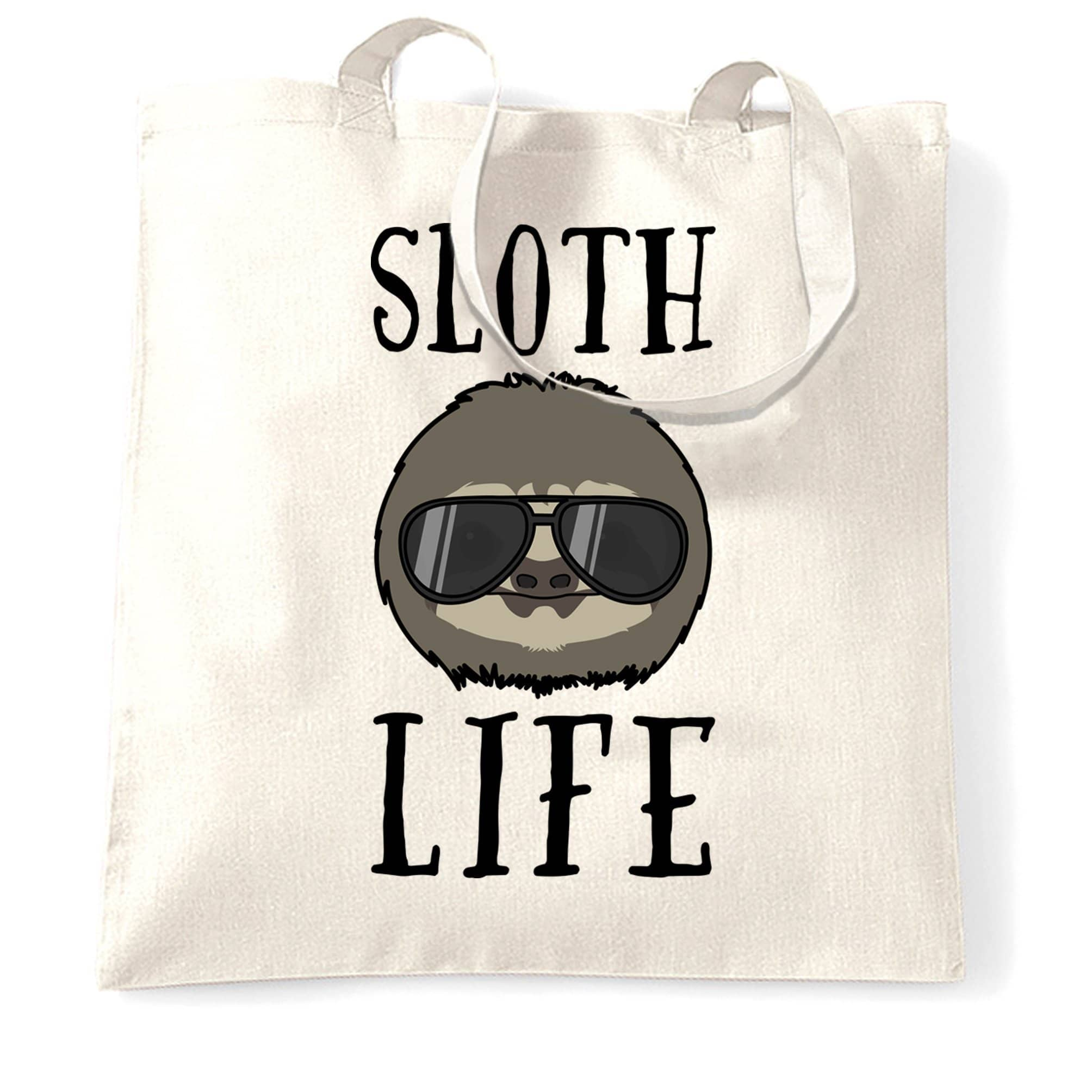 Novelty Animal Tote Bag Sloth Life Pun Slogan