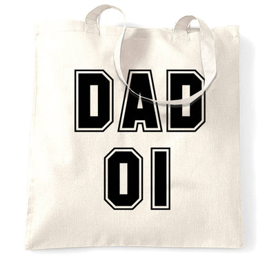 Father's Day Tote Bag Dad, 01 Number One Slogan