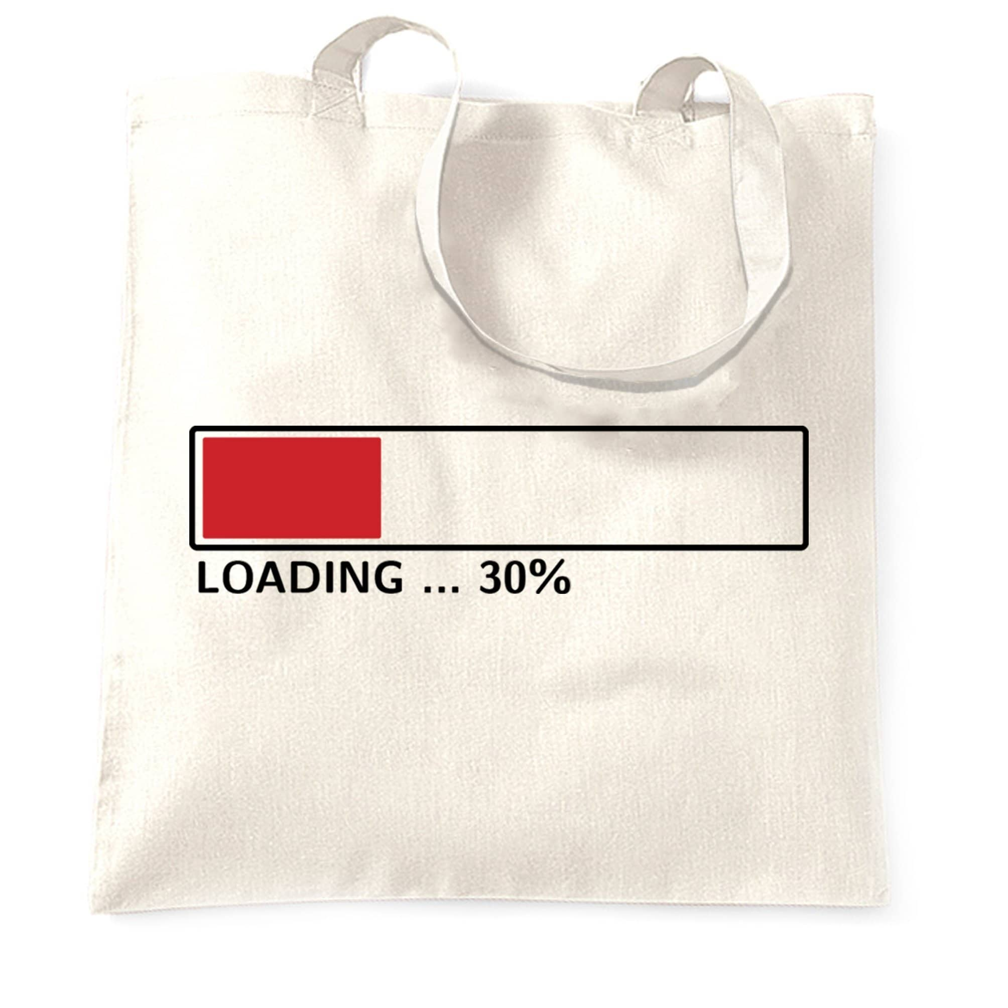 30th Birthday Tote Bag Loading 30% Complete Thirty
