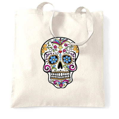 Day Of The Dead Tote Bag Mexican Sugar Skull