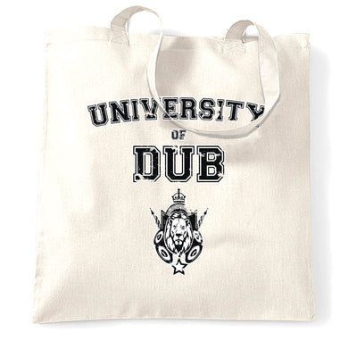 Music Tote Bag University Of Dub Slogan