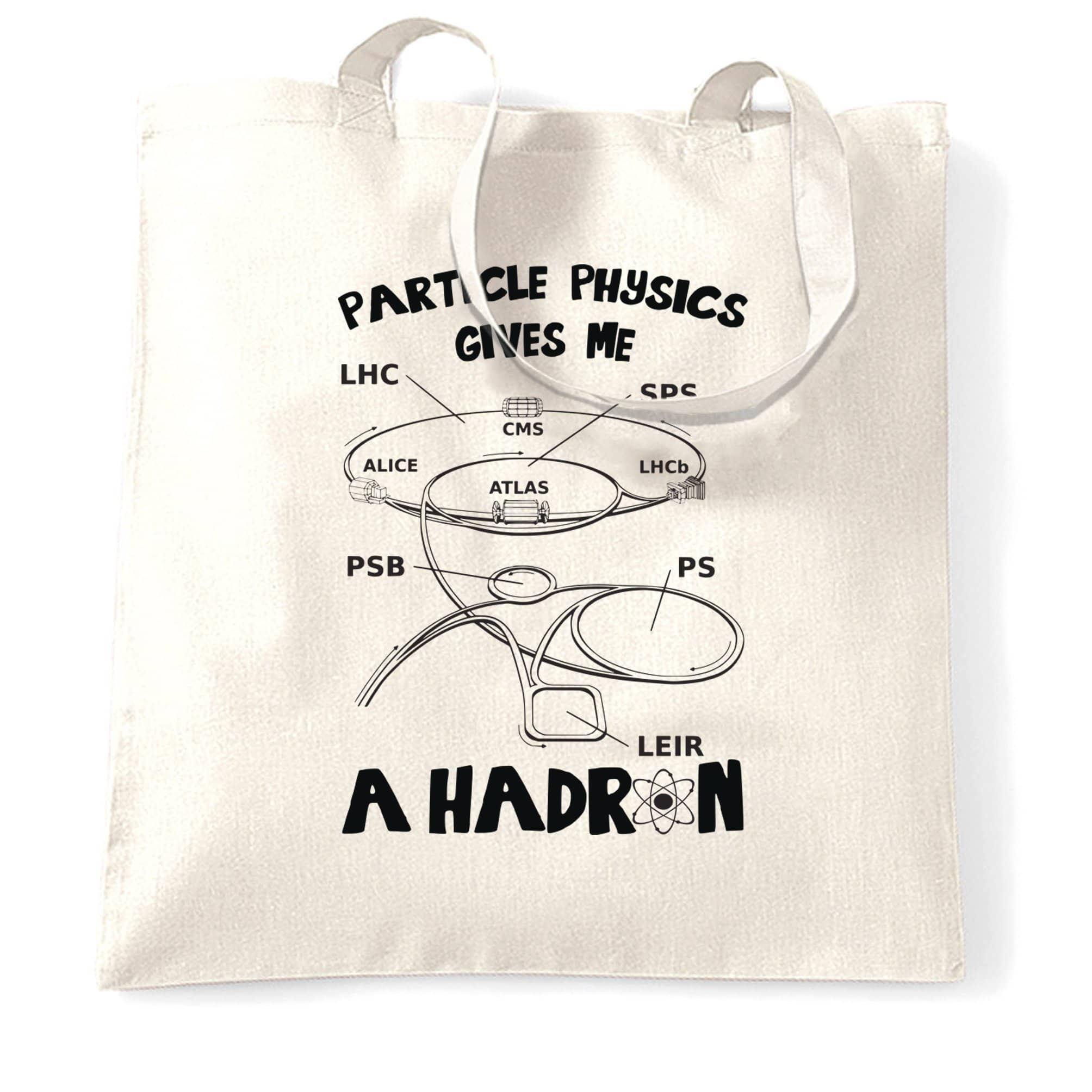 Rude Nerd Tote Bag Particle Physics Gives Me A Hadron