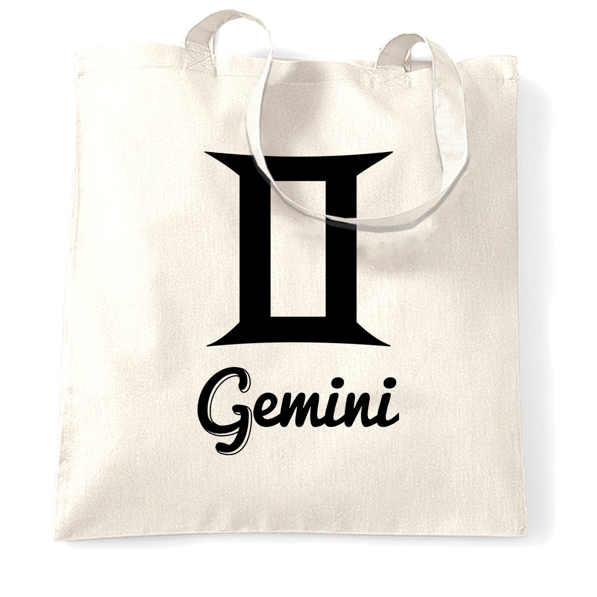 Horoscope Tote Bag Gemini Zodiac Star Sign Birthday