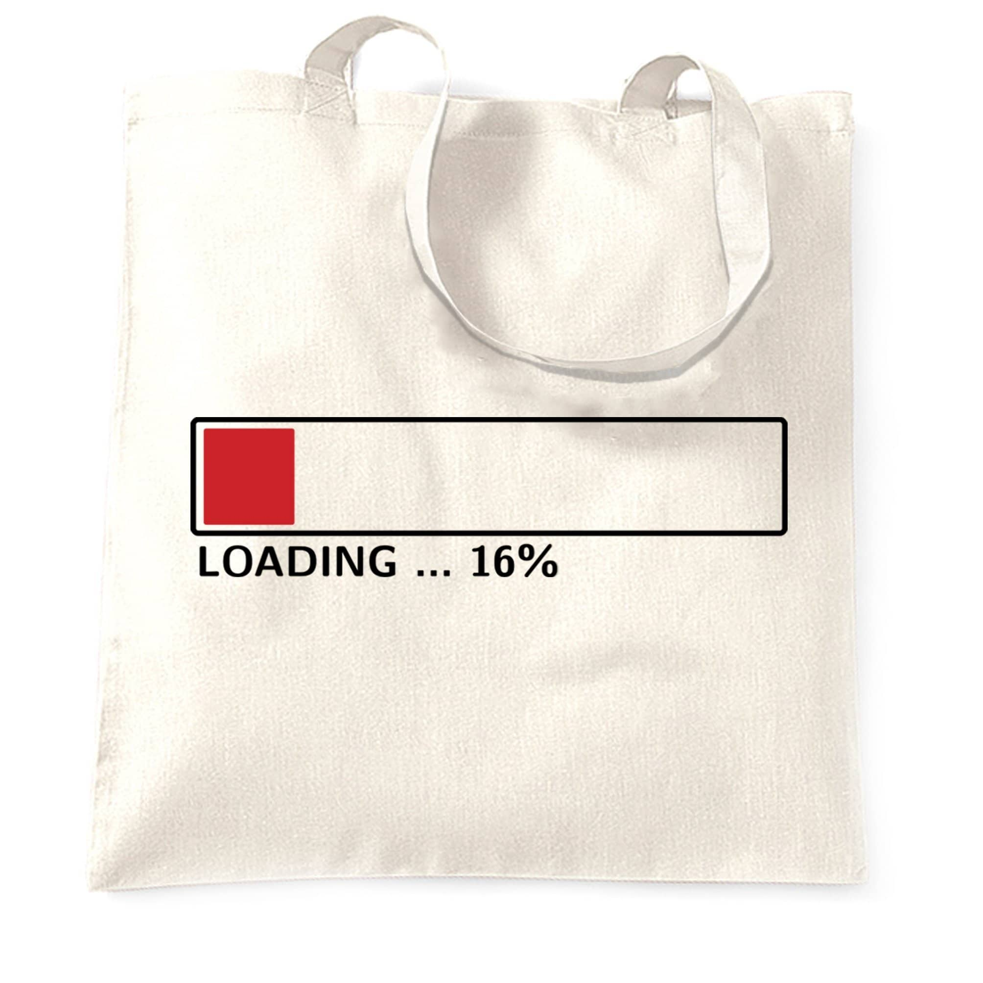 16th Birthday Tote Bag Loading 16% Complete Sixteen