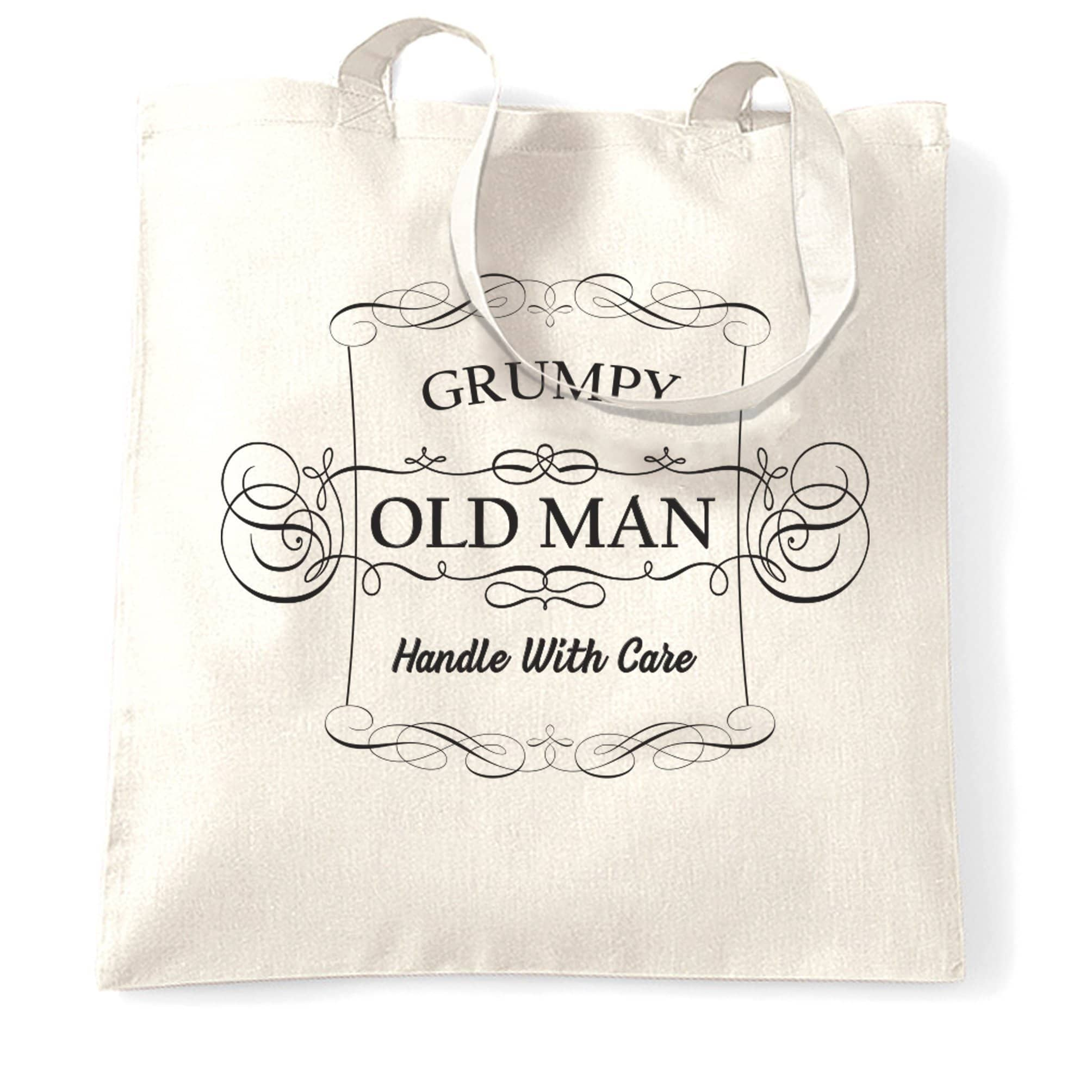 Father's Day Novelty Tote Bag Grumpy Old Man Slogan