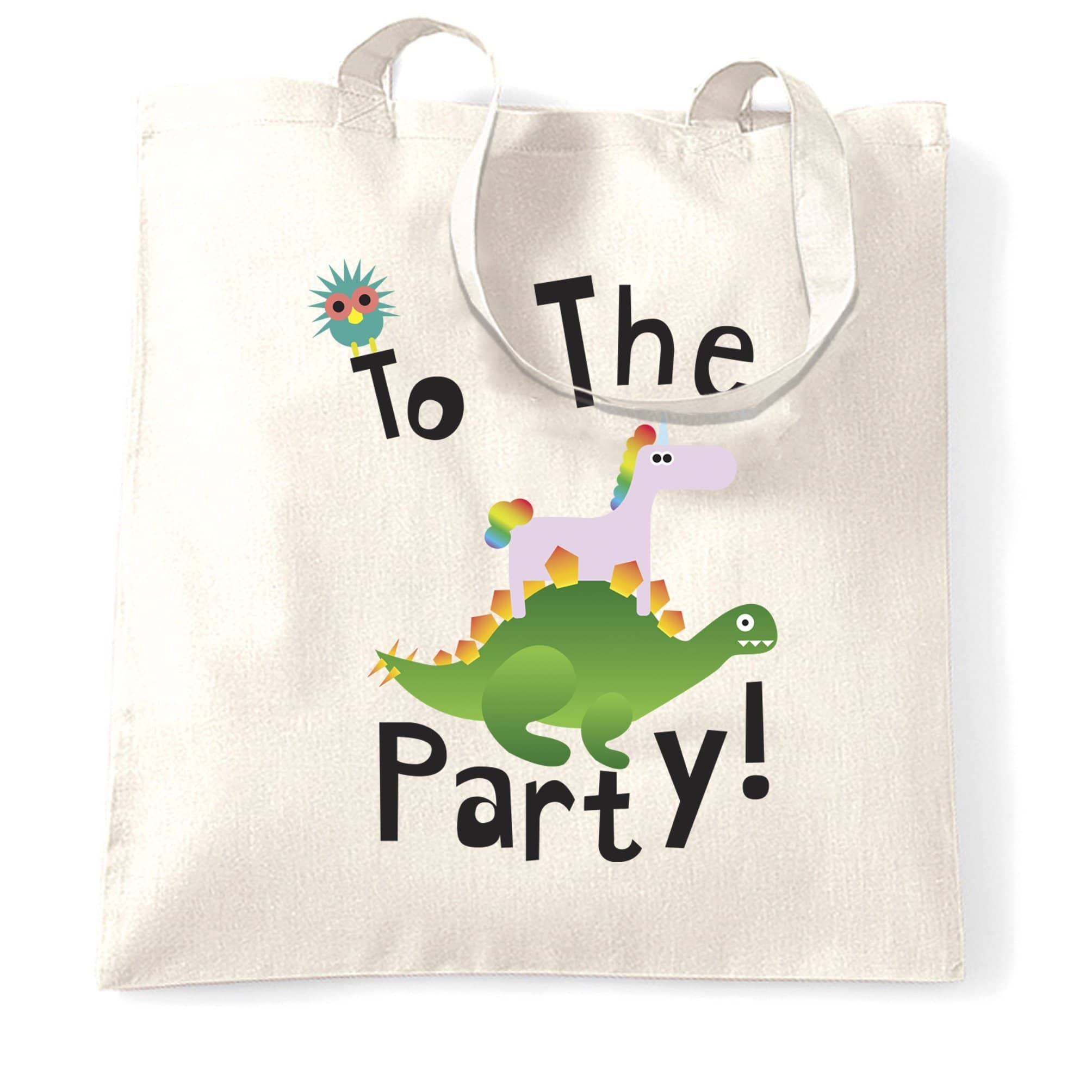 Novelty Birthday Tote Bag To The Party Stegosaurus