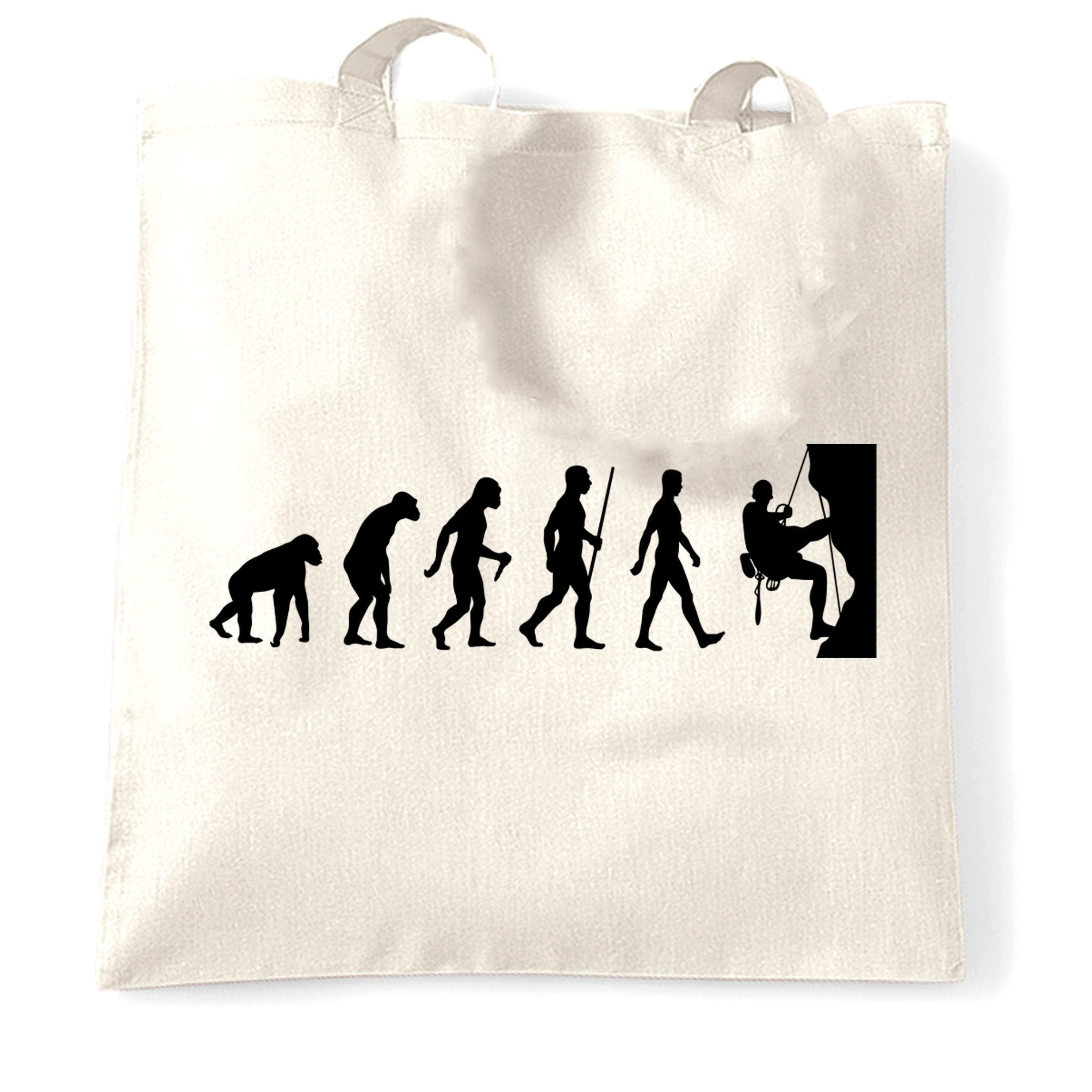 Sports Tote Bag The Evolution Of Rock Climbing