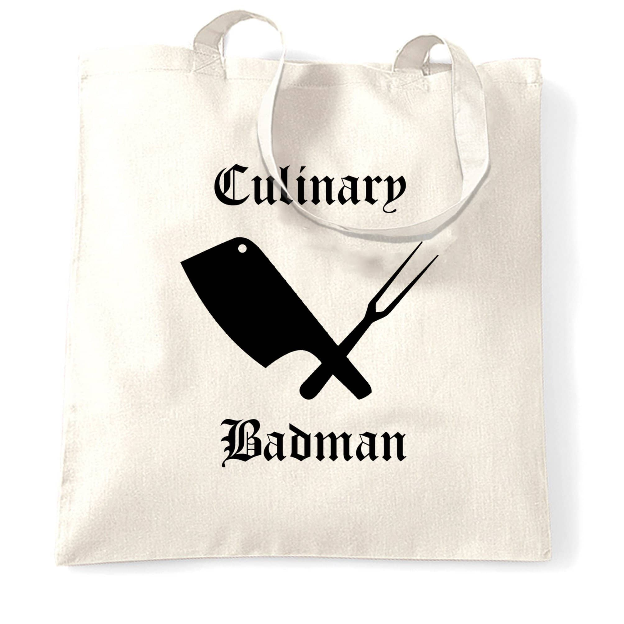 Cooking Tote Bag Culinary Badman Cuisine Logo