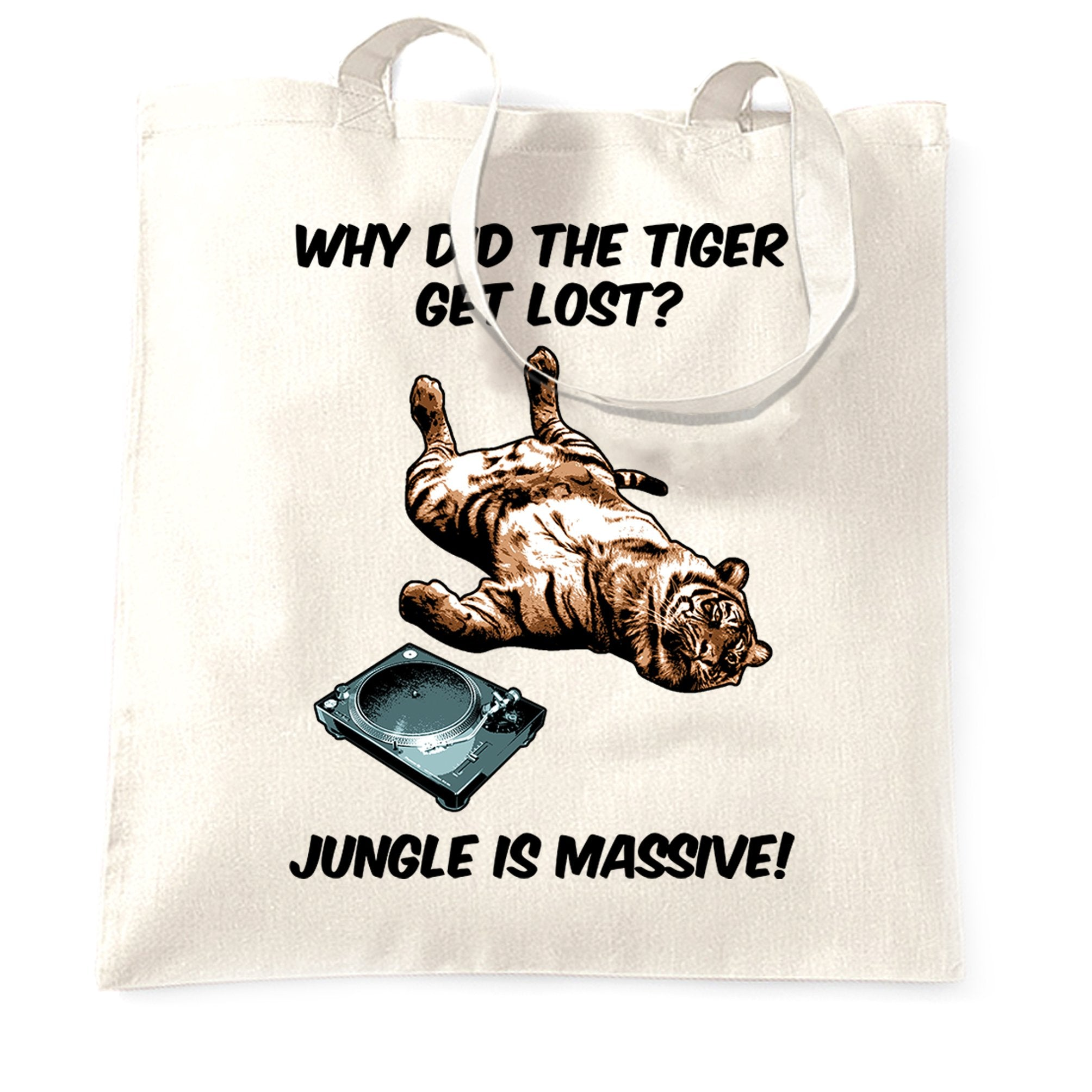 Music Genre Tote Bag Why Did The Tiger Get Lost Joke