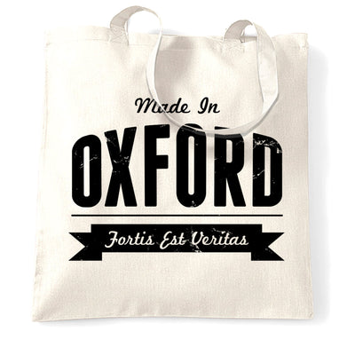 Hometown Pride Tote Bag Made in Oxford Banner