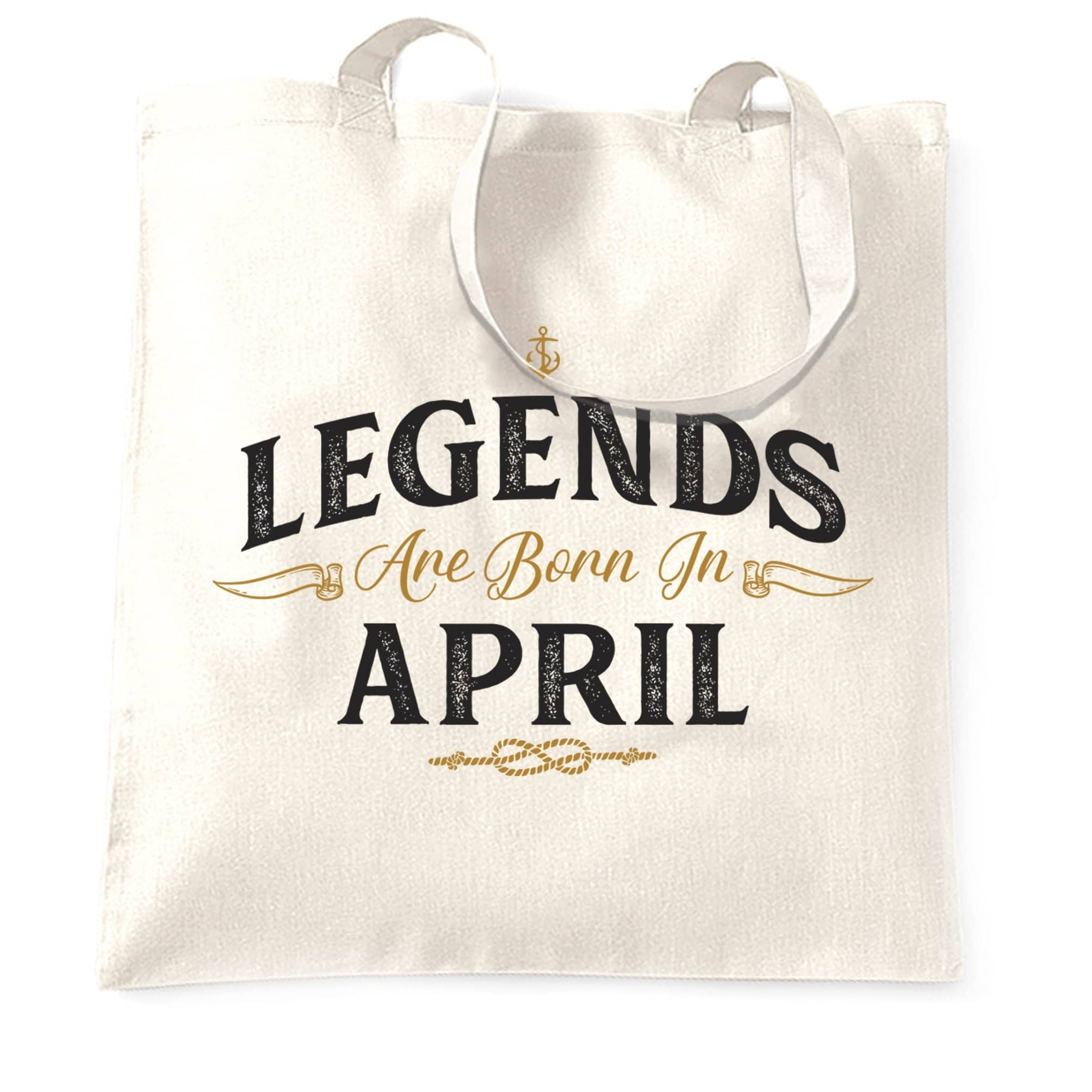 Birthday Tote Bag Legends Are Born In April