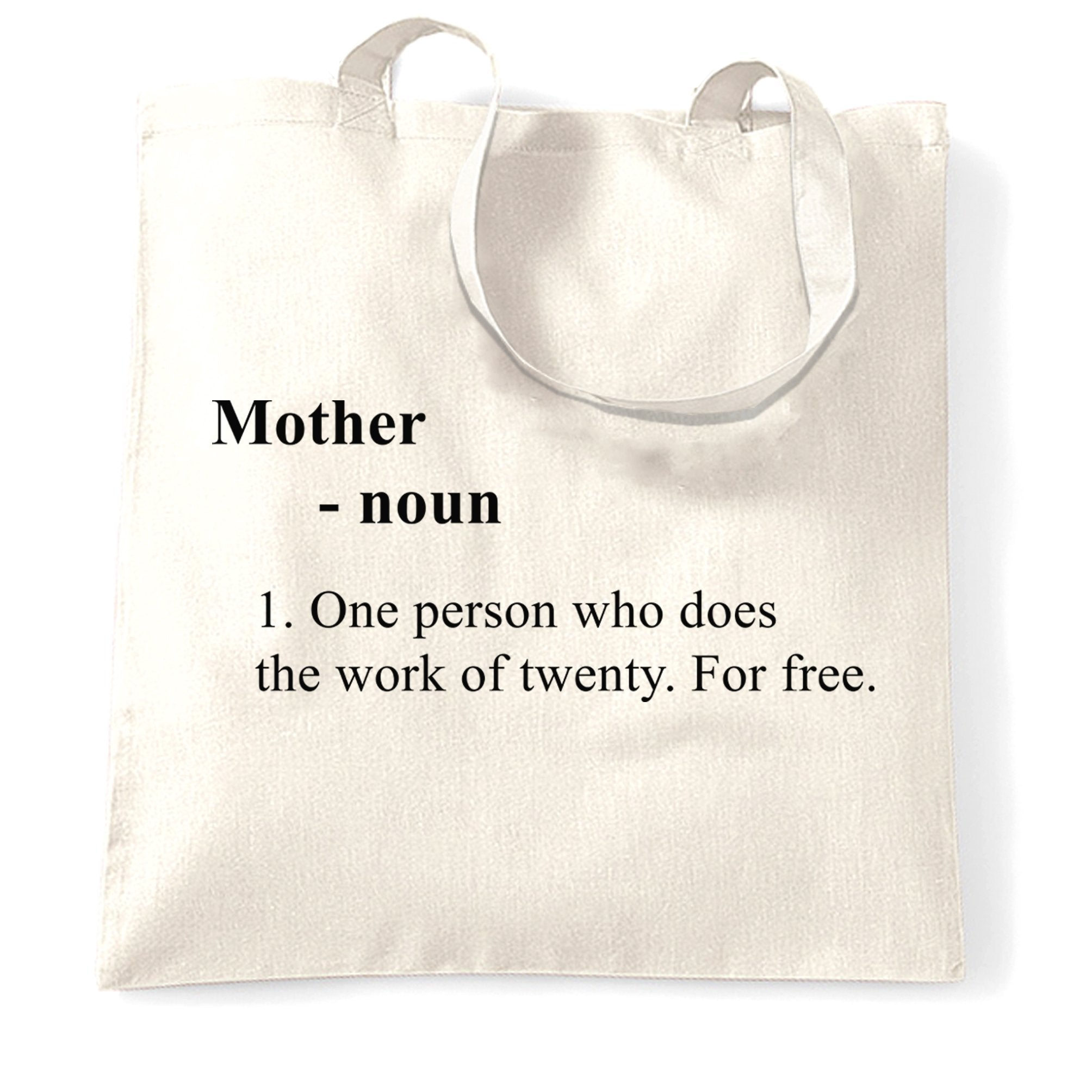 Mother's Day Tote Bag Novelty Dictionary Definition