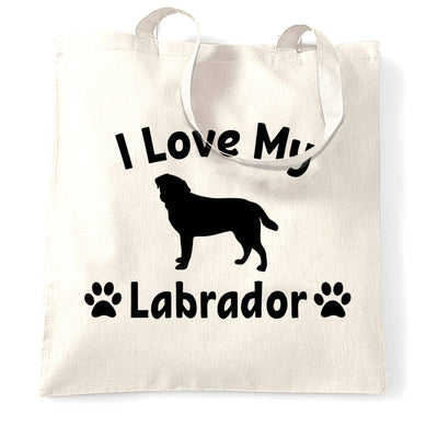Dog Owner Tote Bag I Love My Labrador Slogan