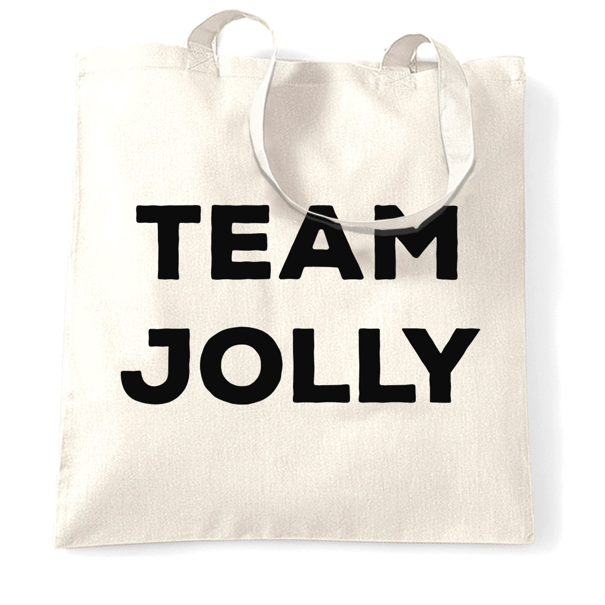 Novelty Christmas Tote Bag Team Jolly Slogan